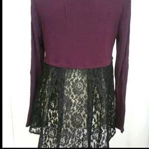 Apt 9 long sleeve blouse with black lace